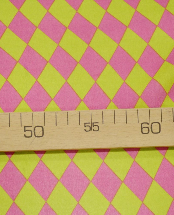 Креп шифон  1106 цвет разноцветный клетка картинка 1
