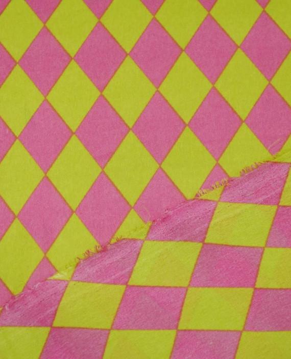 Креп шифон  1106 цвет разноцветный клетка картинка 2