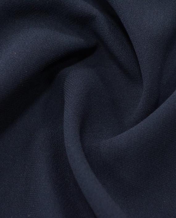 Креп костюмный 1059 цвет синий картинка