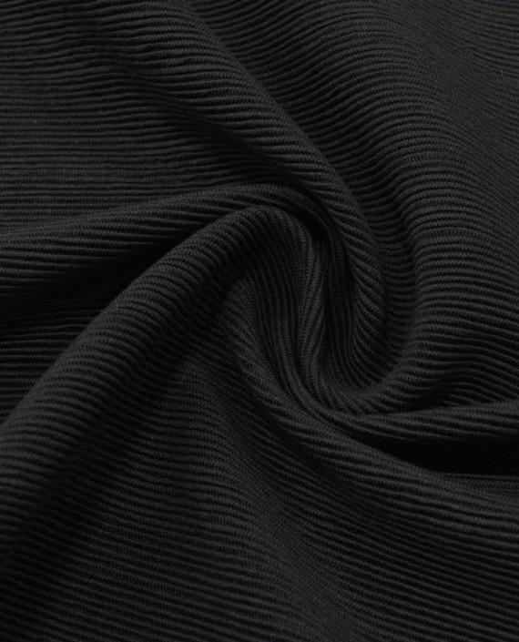 Трикотаж резинка 3117 цвет черный полоска картинка
