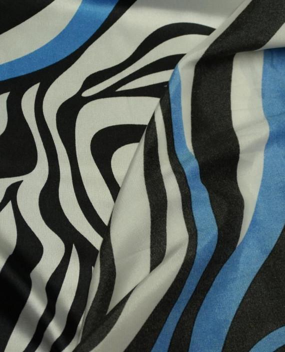 Ткань Атлас Принт 163 цвет разноцветный анималистический картинка 1