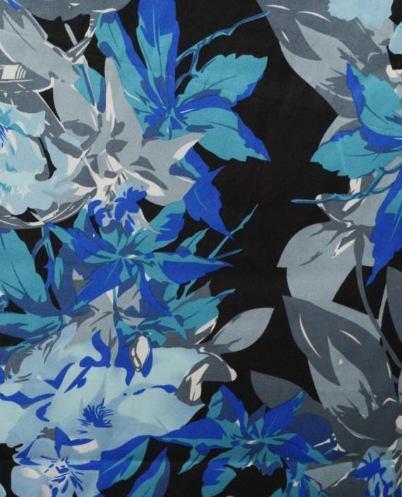Ткань Атлас Принт 170 цвет серый картинка
