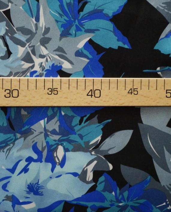 Ткань Атлас Принт 170 цвет серый картинка 2