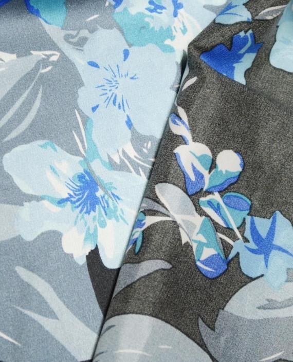 Ткань Атлас Принт 170 цвет серый картинка 1