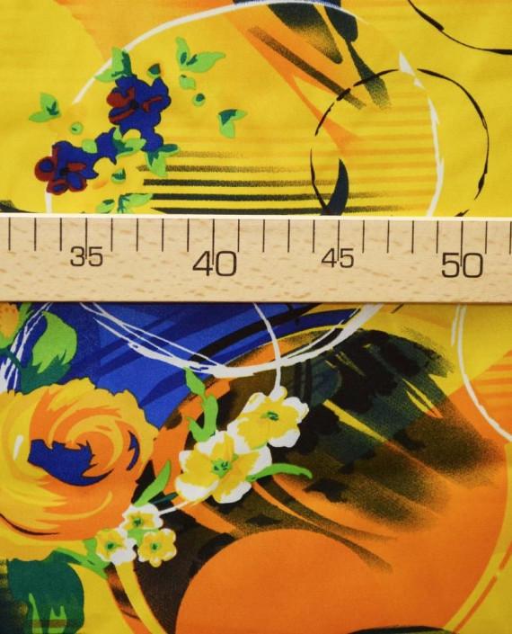 Ткань Атлас Принт 171 цвет желтый картинка 2