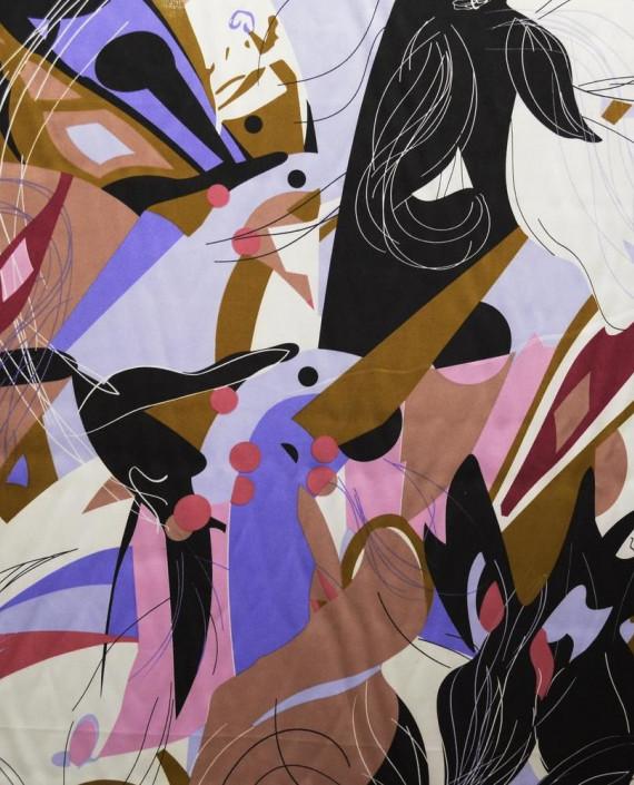 Ткань Атлас Принт 174 цвет разноцветный абстрактный картинка