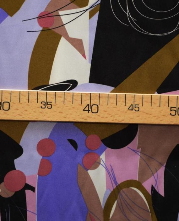 Ткань Атлас Принт 174 цвет разноцветный абстрактный картинка 2