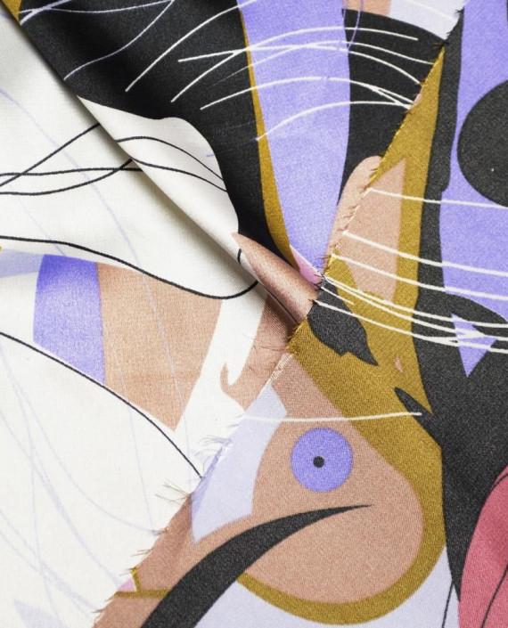 Ткань Атлас Принт 174 цвет разноцветный абстрактный картинка 1