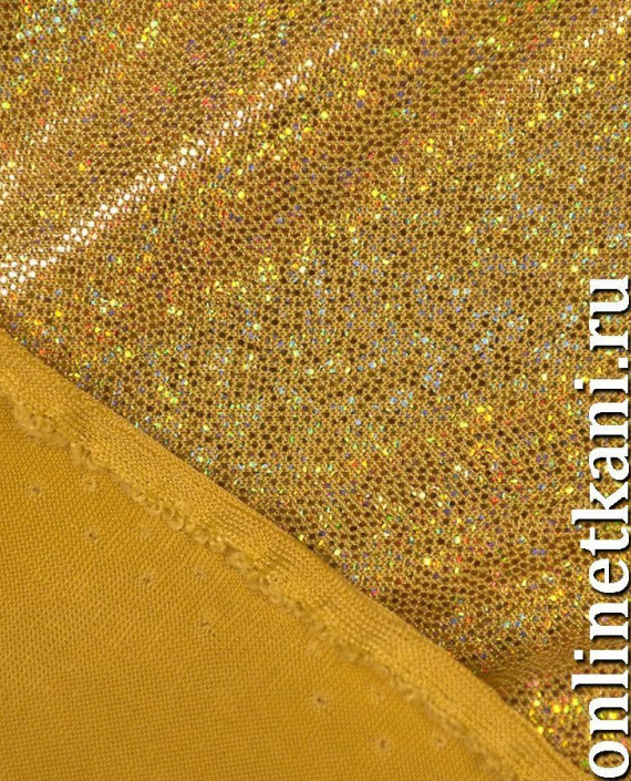 Ткань Голограмма 036 цвет золотой картинка 2
