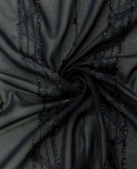 Плательная ткань с вышивкой 1049 цвет черный картинка
