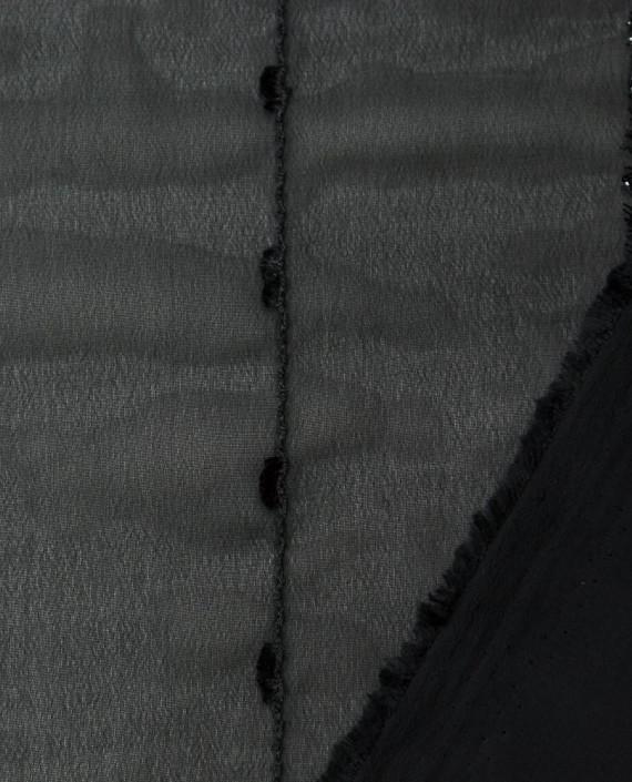 Плательная ткань с вышивкой 1049 цвет черный картинка 1