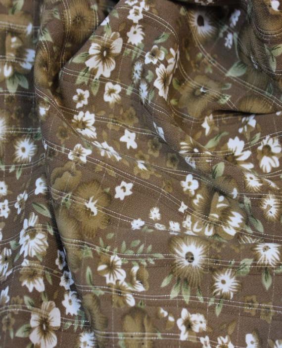 """Ткань Лоренсо """"Цветущее Поле""""  005 цвет хаки цветочный картинка"""