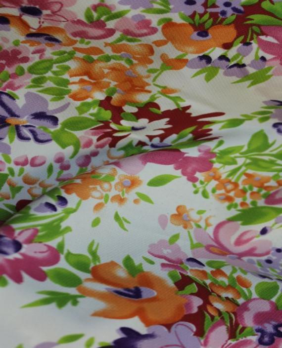 """Ткань Лоренсо """"Лето"""" 006 цвет белый цветочный картинка 2"""
