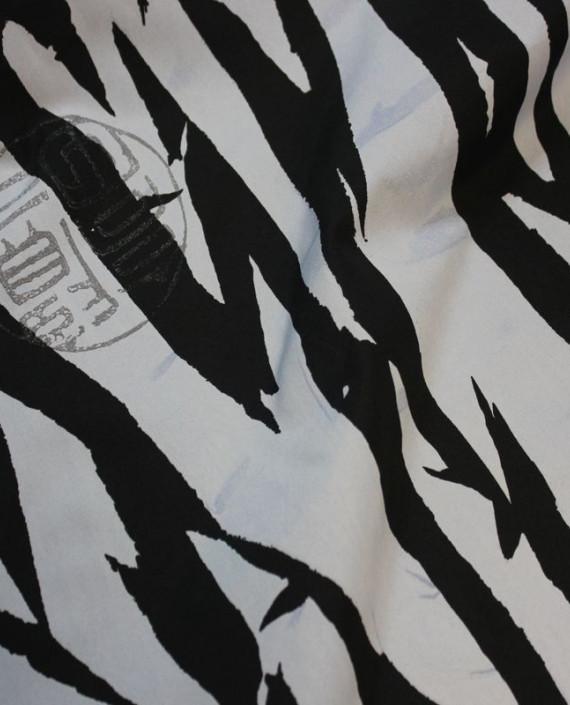 """Ткань Лоренсо """"Черное и Белое"""" 002 цвет белый анималистический картинка"""