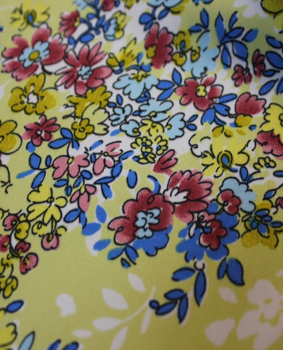 "Ткань Лоренсо ""Летний луг"" 012 цвет желтый цветочный картинка 1"