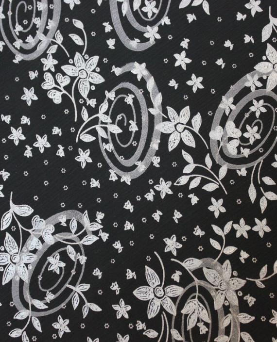 """Ткань Лоренсо """"Темные огурцы"""" 017 цвет серый абстрактный картинка 2"""