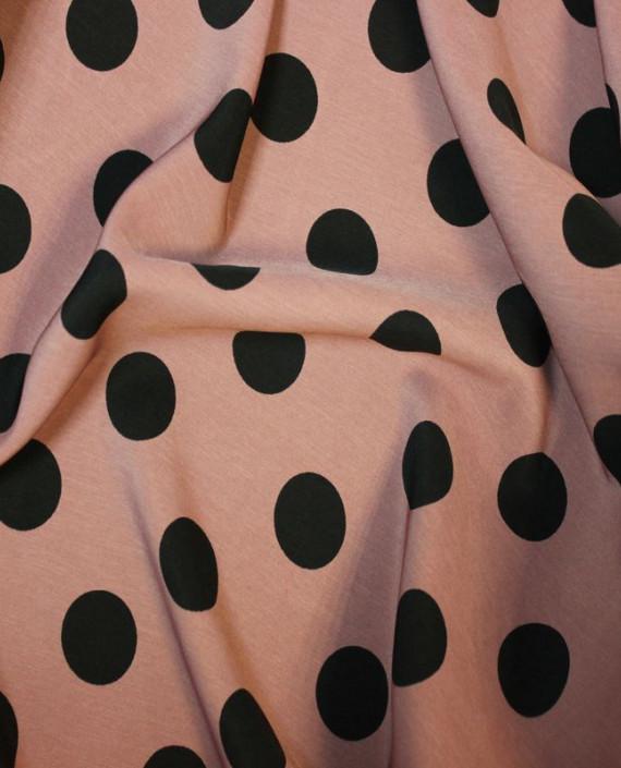 """Ткань Лоренсо """"Горохи на розовом"""" 015 цвет розовый в горошек картинка 1"""