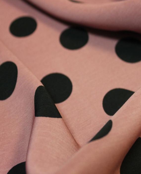 """Ткань Лоренсо """"Горохи на розовом"""" 015 цвет розовый в горошек картинка 2"""
