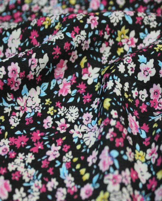 """Ткань Лоренсо """"Полевые цветы"""" 019 цвет разноцветный цветочный картинка 2"""