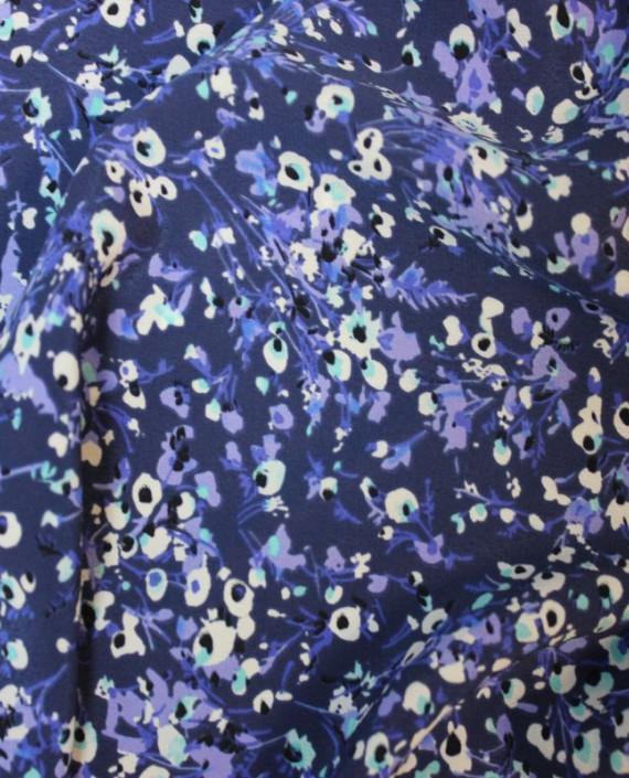 """Ткань Лоренсо """"Незабудки"""" 020 цвет голубой цветочный картинка 2"""
