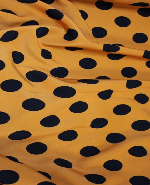 """Ткань Лоренсо """"Горохи на желтом"""" 021 цвет желтый в горошек картинка"""