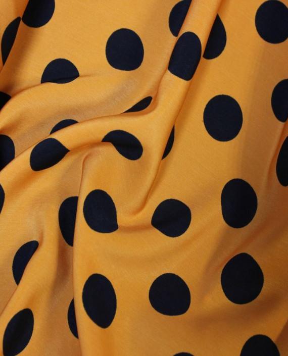 """Ткань Лоренсо """"Горохи на желтом"""" 021 цвет желтый в горошек картинка 1"""