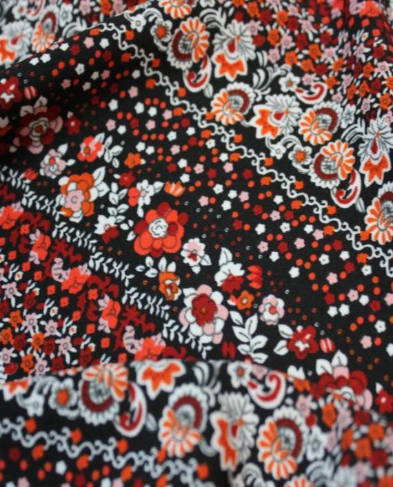 """Ткань Лоренсо """"Штапель"""" 024 цвет разноцветный абстрактный картинка 1"""