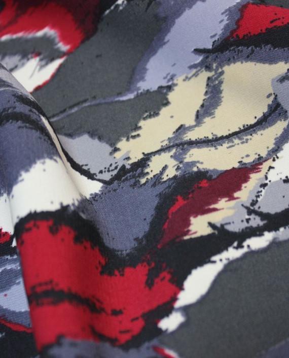 """Ткань Лоренсо """"Экспромт"""" 029 цвет серый абстрактный картинка 2"""