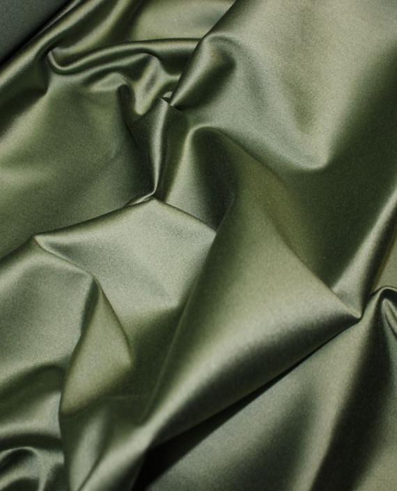 "Ткань Атлас ""Зеленый папоротник"" 014 цвет зеленый картинка 2"