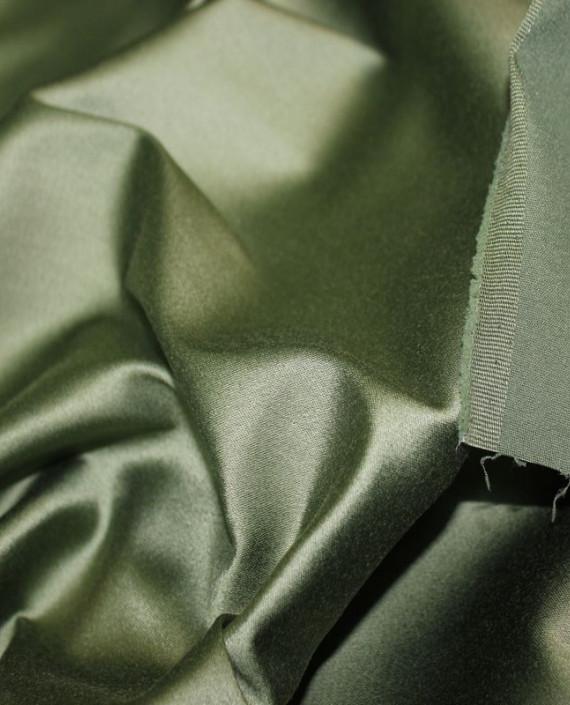 "Ткань Атлас ""Зеленый папоротник"" 014 цвет зеленый картинка 1"