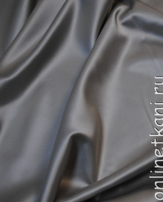 """Ткань Атлас """"Светло Серый"""" 015 цвет серый картинка 1"""