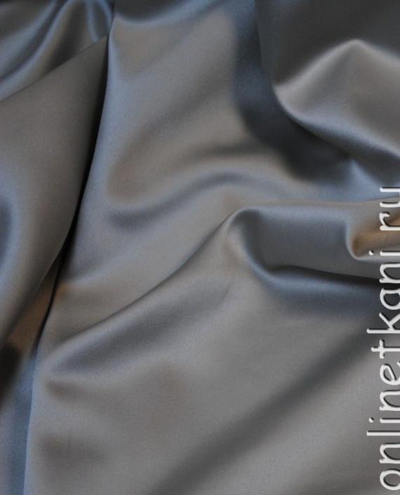 """Ткань Атлас """"Светло Серый"""" 015 цвет серый картинка 2"""