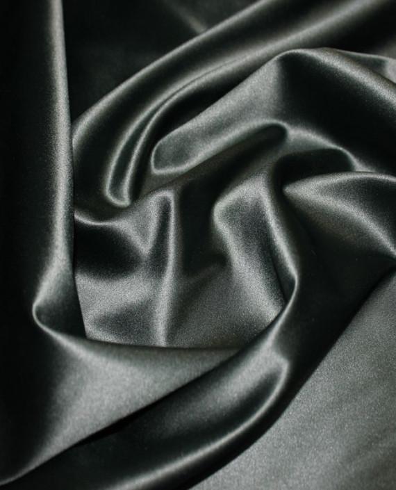 """Ткань Атлас """"Темно Зеленый"""" 016 цвет зеленый картинка 1"""