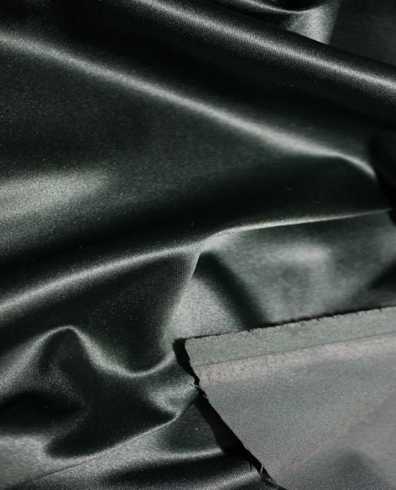 """Ткань Атлас """"Темно Зеленый"""" 016 цвет зеленый картинка 2"""