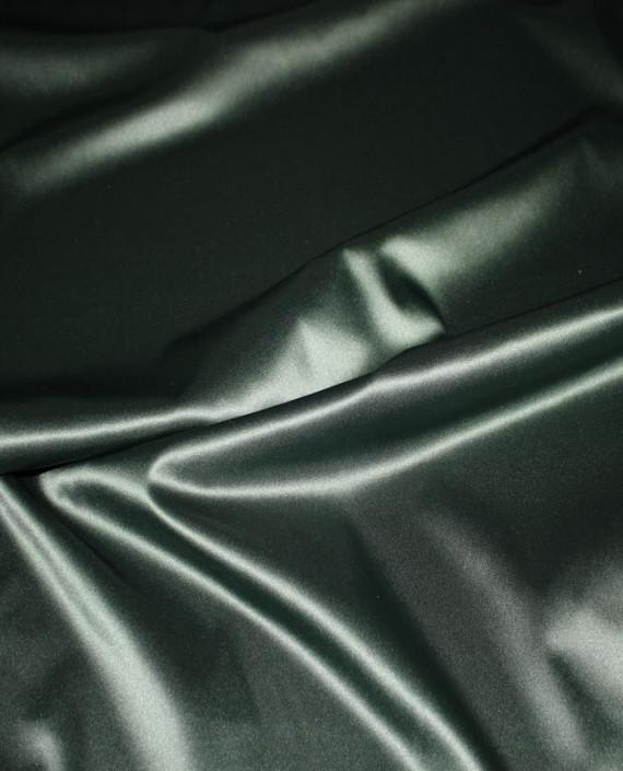 """Ткань Атлас """"Темно Зеленый"""" 016 цвет зеленый картинка 3"""