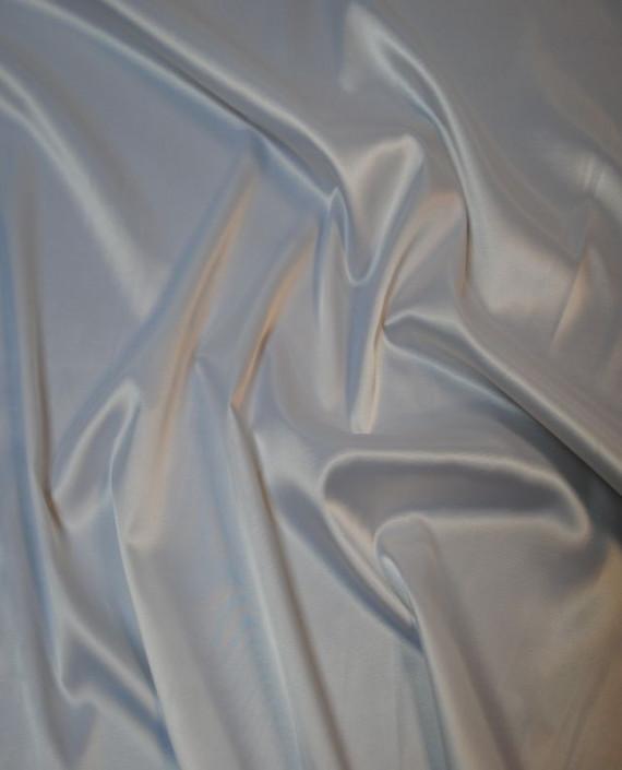Ткань Атлас стрейч плотный Белый 018 цвет белый картинка