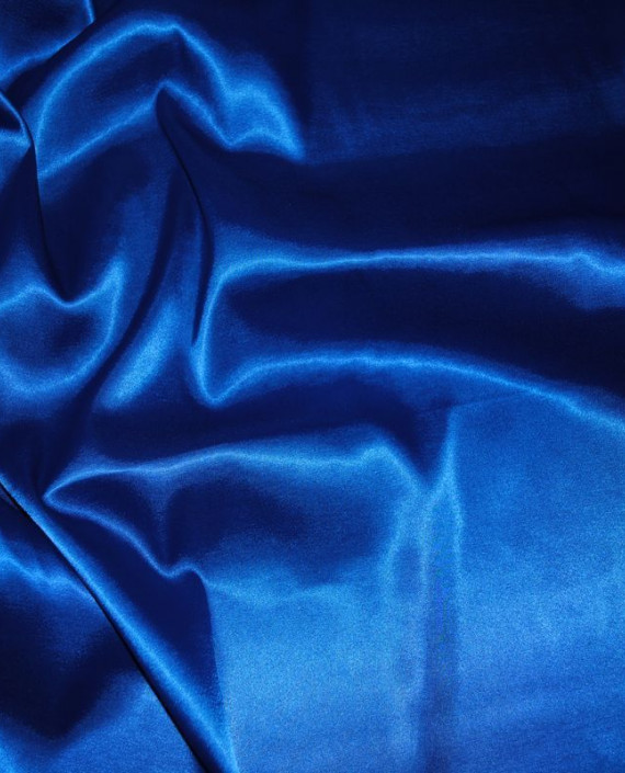 Ткань Атлас стрейч плотный Синий 020 цвет синий картинка 2
