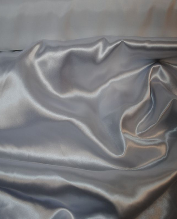 Ткань Атлас плотный Белый 024 цвет белый картинка 2