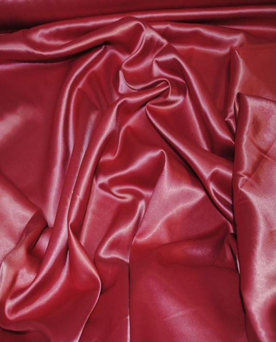 Ткань Атлас стрейч плотный 021 цвет красный картинка 1