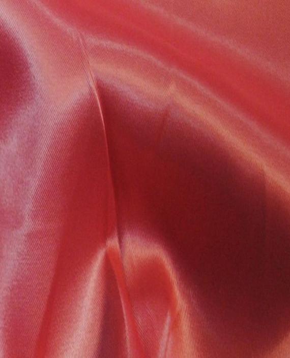 Ткань Атлас стрейч плотный 021 цвет красный картинка