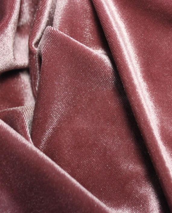 """Ткань Бархат-стрейч """"Розовато-Лиловый"""" 002 цвет розовый картинка"""