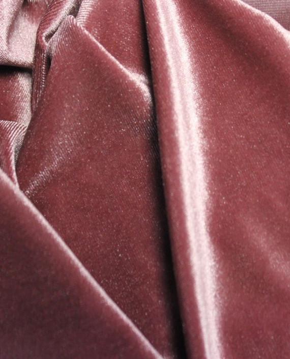 """Ткань Бархат-стрейч """"Розовато-Лиловый"""" 002 цвет розовый картинка 1"""