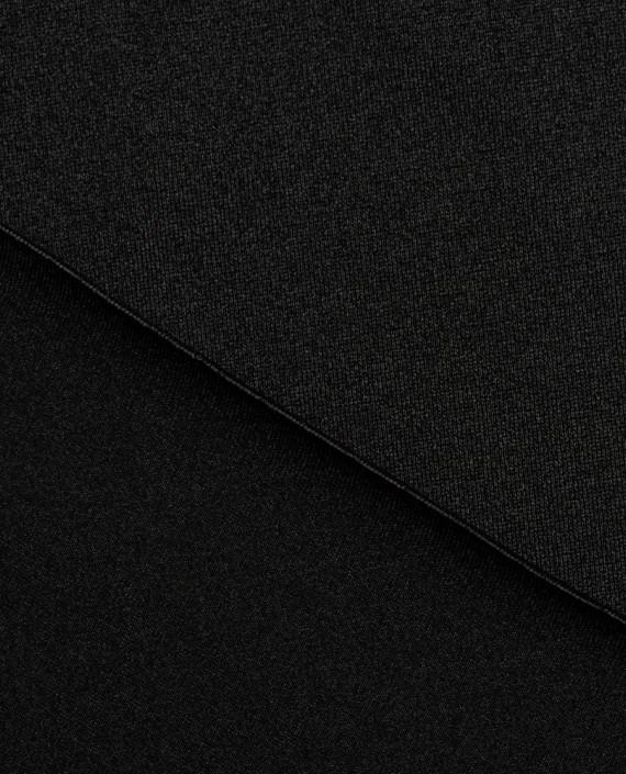"""Ткань Бифлекс """"Черный"""" 0009 цвет черный картинка 1"""