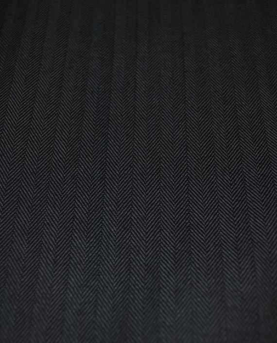 """Ткань Джинс """"Елочка"""" 0001 цвет серый геометрический картинка"""