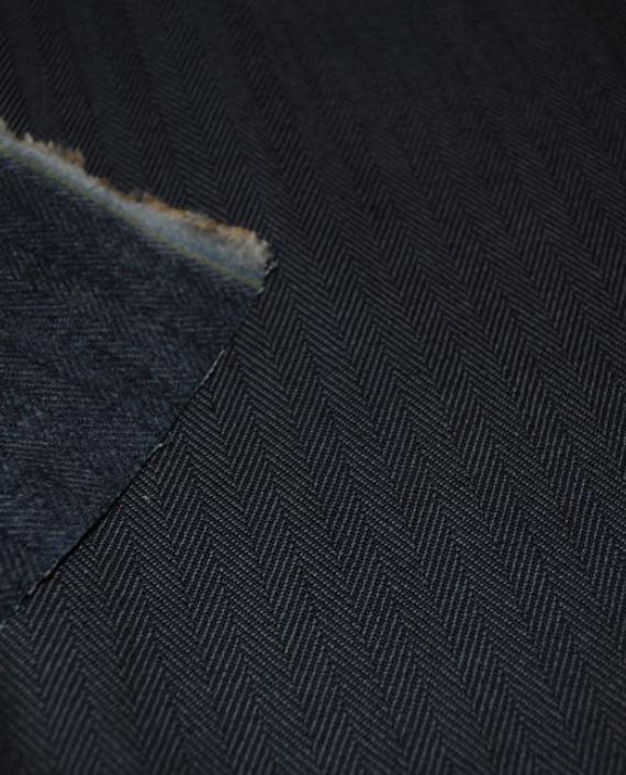 """Ткань Джинс """"Елочка"""" 0001 цвет серый геометрический картинка 1"""