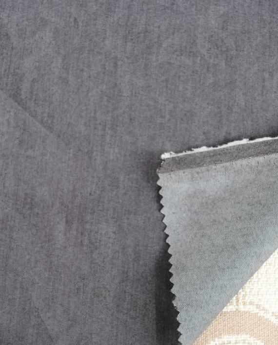 Ткань Джинс облегченный 0006 цвет серый картинка 1