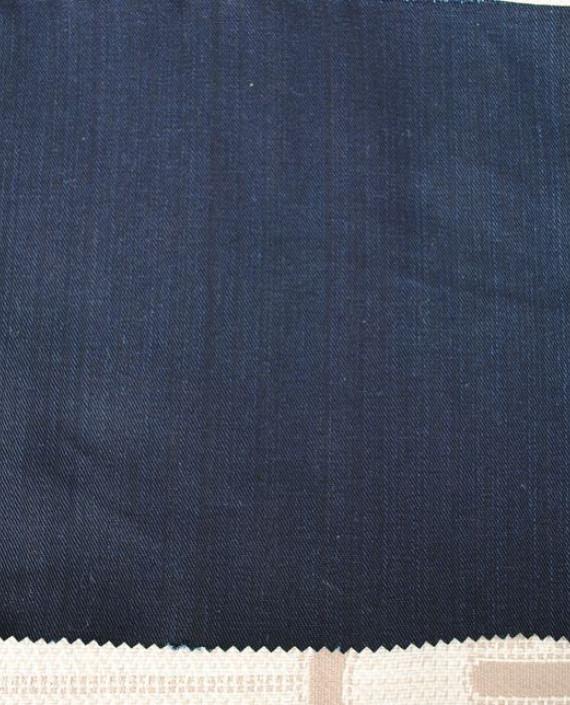 """Ткань Джинс """"Кобальтовый"""" 0017 цвет синий картинка"""