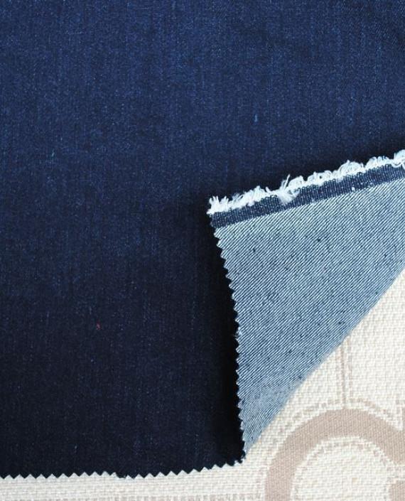 """Ткань Джинс """"Темно-синий"""" 0024 цвет синий картинка"""