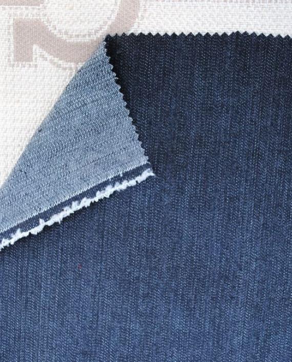 """Ткань Джинс """"Антрацит"""" 0025 цвет синий картинка 1"""
