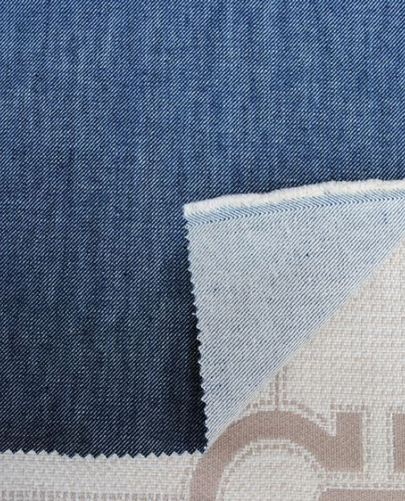 """Ткань Джинс """"Синяя пыль"""" 0026 цвет синий картинка 1"""